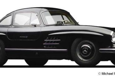 1956 mercedes benz 300sl coupe f3q